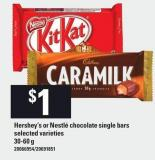 Hershey's Or Nestlé Chocolate Single Bars - 30-60 g