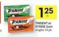 Trident or Stride Gum - 50 Air Miles Bonus Miles