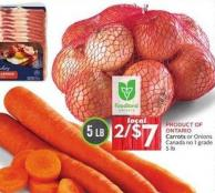 Carrots or Onions Canada No 1 Grade 5 Lb