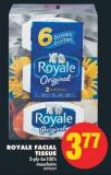 Royale Facial Tissue - 2-ply 6x100's