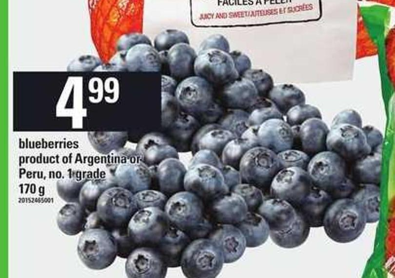 Blueberries - 170 Gproduct of Argentina Orperu - No. 1 Grade