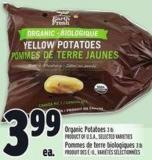 Organic Potatoes 3 Lb