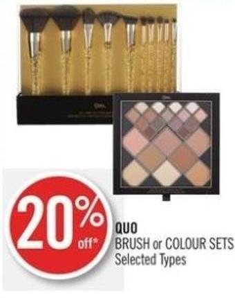 Quo Brush or Colour Sets