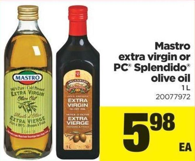 Mastro Extra Virgin Or PC Splendido Olive Oil 1 L