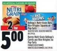Kellogg's Nutri-grain Bars - Rice Krispies Squares Or Pop-tarts