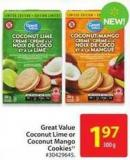 Great Value Coconut Lime or Coconut Mango Cookies