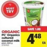 PC Organics Cultured Coconut Milk - 680 g