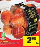 Farmer's Market Yellow Peaches - 3 L Basket