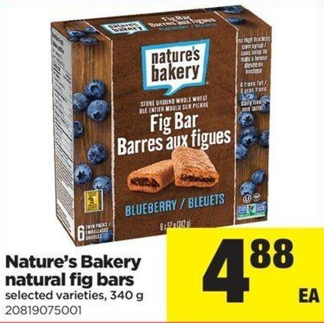 Nature's Bakery Natural Fig Bars - 340 G