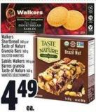 Walkers Shortbread 140 G Or Taste Of Nature Granola Bars 160 G