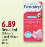 Benadryl Children's Liquid Allergy Relief 100ml