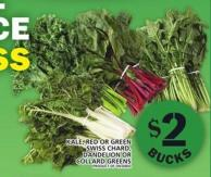 Kale - Red Or Green Swiss Chard - Dandelion Or Collard Greens