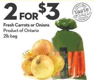 Fresh Carrots or Onions