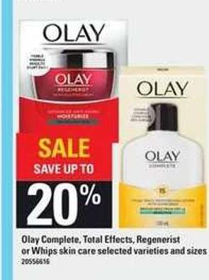 Olay Complete - Total Effects - Regenerist Or Whips Skin Care