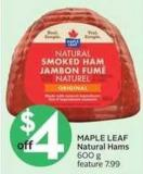 Maple Leaf Natural Hams