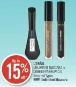L'oréal Unlimited Mascara or Unbelievabrow Gel