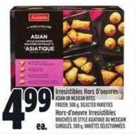 Irresistibles Hors D'oeuvres Asian Or Mexican Bites Frozen - 500 g
