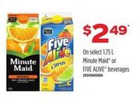 Minute Maid Or Five Alive Beverages