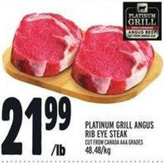 Platinum Grill Angus Rib Eye Steak