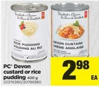 PC Devon Custard Or Rice Pudding 400 G