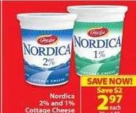 Nordica 20% and 1% Cottage Cheese
