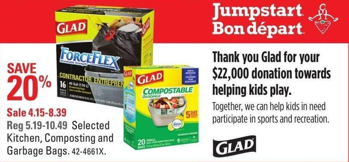 Selected Glad Kitchen - Composting and Garbage Bags