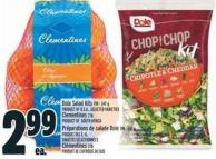 Dole Salad Kits 198 - 347 G Product Of U.S.A. Or Clementines 2 Lb Product Of South Africa