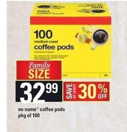 No Name Coffee PODS - Pkg of 100