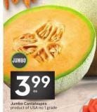 Jumbo Cantaloupes Product of USA - No. 1 Grade