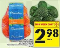 Avocados Or Clementines