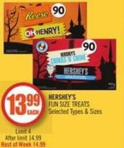 Hershey's  Fun Size Treats