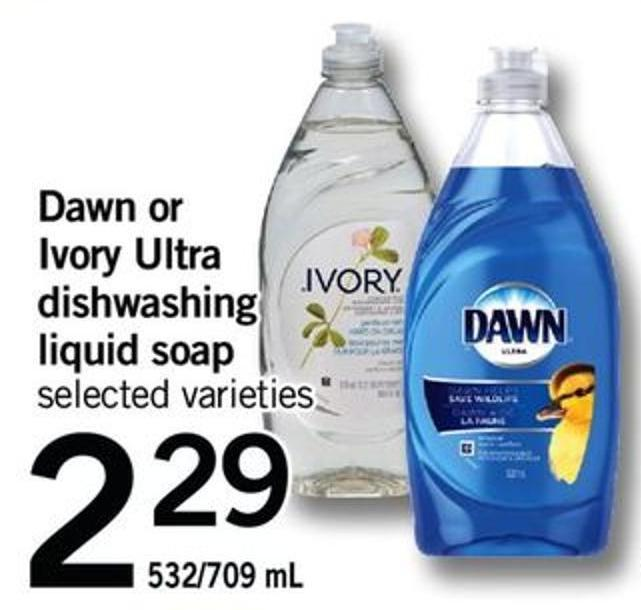 Dawn Or Ivory Ultra Dishwashing Liquid Soap - 532/709 Ml