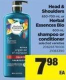 Head & Shoulders - 650-700 Ml Or Herbal Essences Bio - 600 Ml Shampoo Or Conditioner
