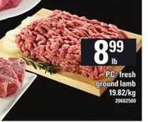 PC Fresh Ground Lamb
