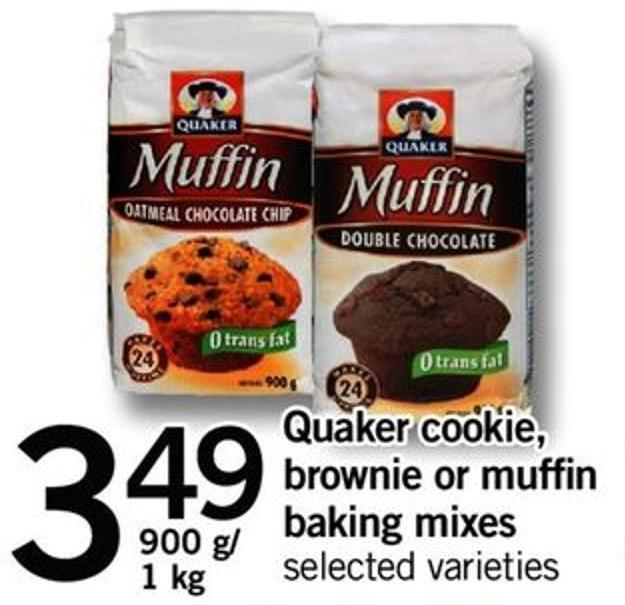 Quaker Cookie - Brownie Or Muffin Baking Mixes - 900 G/1 Kg