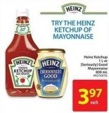 Heinz Ketchup 1 L or [Seriously] Good Mayonnaise 800 mL