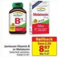 Jamieson Vitamin B or Melatonin