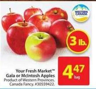 Your Fresh Market Gala or Mclntosh Apples