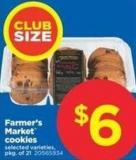 Farmer's Market Cookies - Pkg of 21