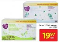 Parent's Choice Wipes 1200s