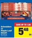 Schneiders Or Maple Leaf Bacon - 65-375 g