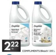 Compliments Bleach 1.89 L