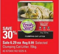 Selected Clumping Cat Litter