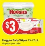 Huggies Baby Wipes 45-72 Pk