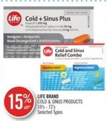 Life Brand Cold & Sinus Products