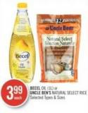 Becel Oil or Uncle Ben's Natural Select Rice (1l)