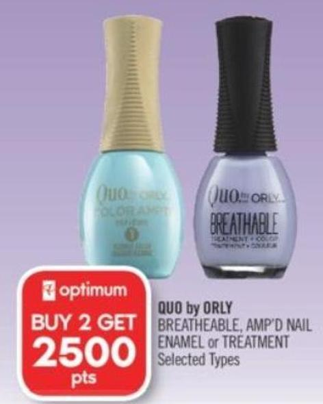 Quo By Orly Breatheable - Amp'd Nail Enamel or Treatment