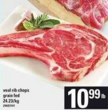 Veal Rib Chops Grain Fed