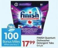 Finish Quantum Dishwasher Detergent Tabs 64 Pk - 100 Air Miles