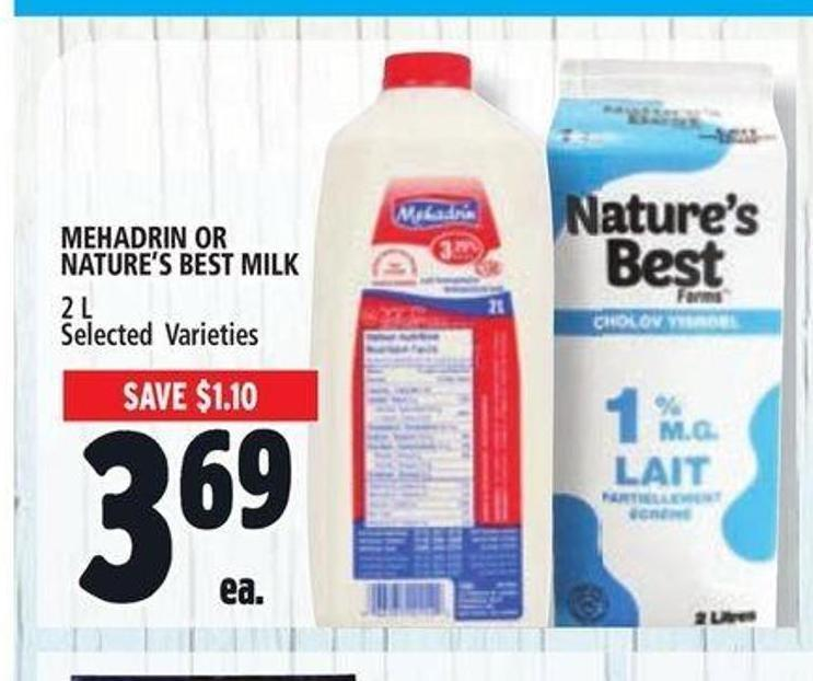 Mehadrin Or Nature's Best Milk